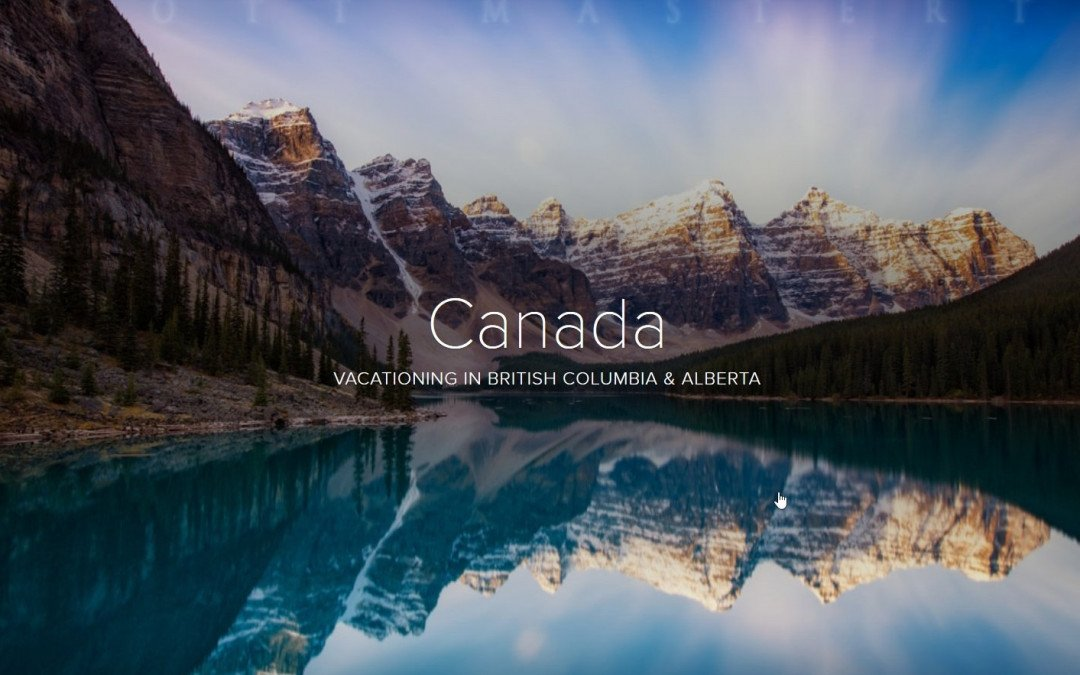 Adobe Spark Photo Story – Canada – A Big Adventure