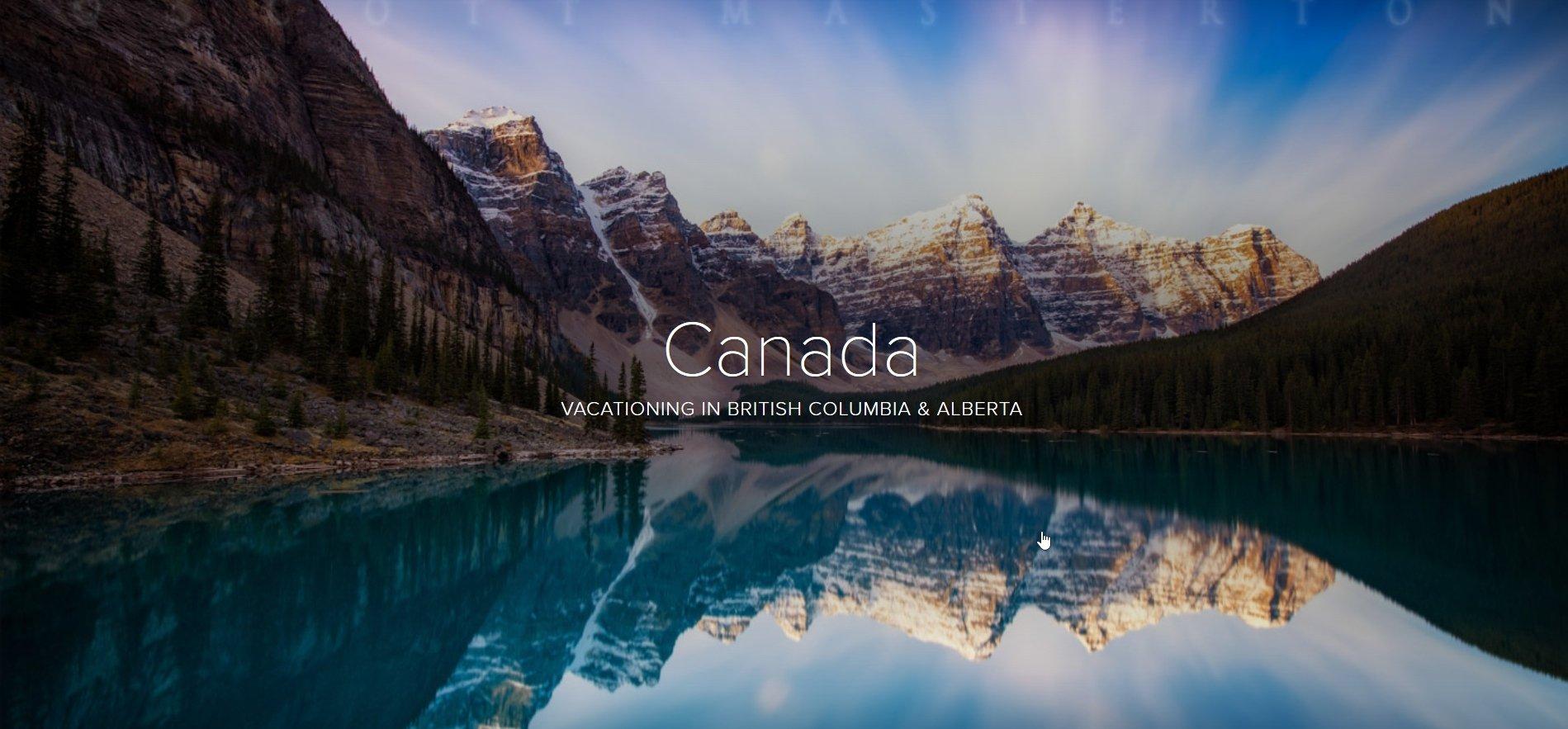Adobe Spark Page Canada Adventure