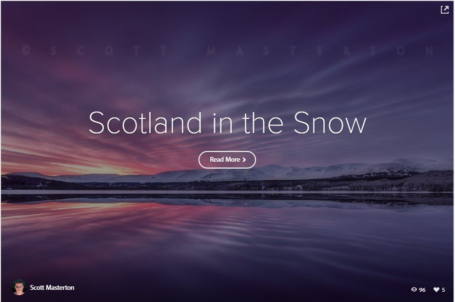 Adobe Spark Story about Scotland in the Snow