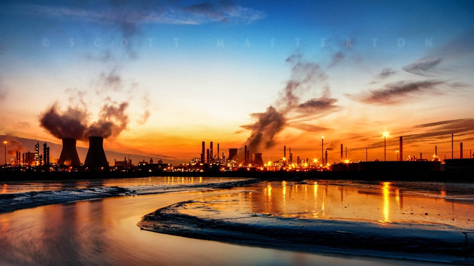 Black Gold an image of an Oil Refinery by Scott Masterton