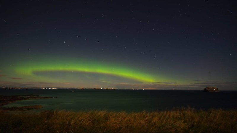 Aurora Borealis, North Berwick,East Lothian, Scotland.