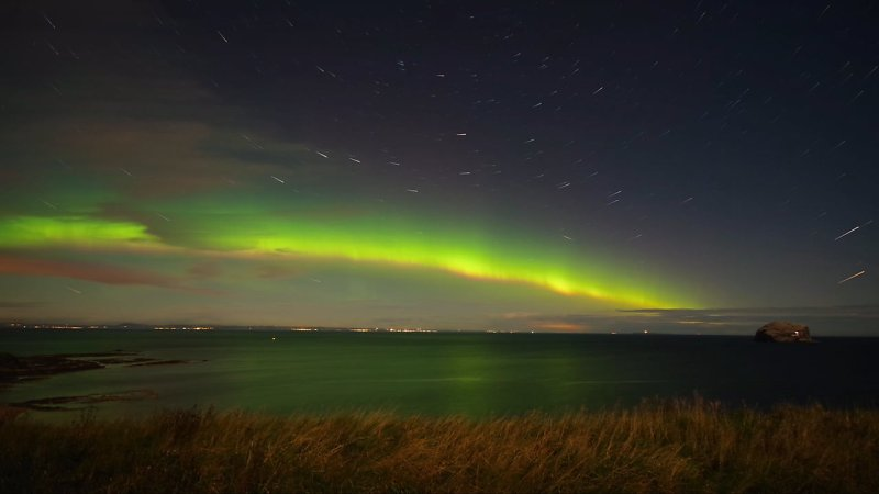 Aurora Borealis, North Berwick, Scotland.