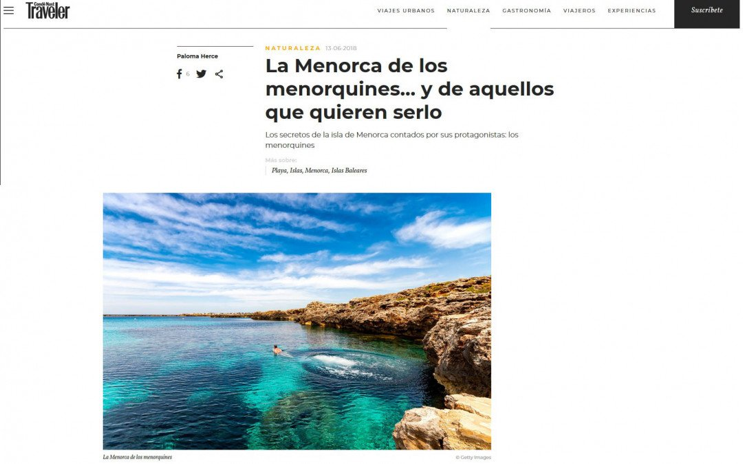 MULTIPLE IMAGES USED IN CONDE NAST WEBSITE ARTICLES ABOUT MENORCA