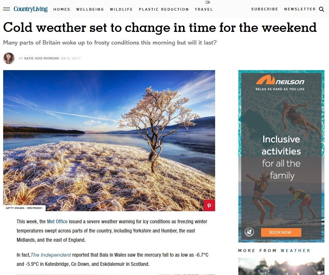 IMAGE USE ON COUNTRY LIVING WEBSITE TO ILLUSTRATE AN ONLINE ARTICLE