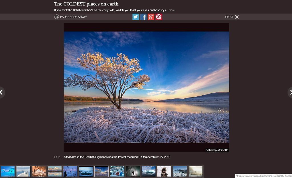Frozen Image - Website Usage