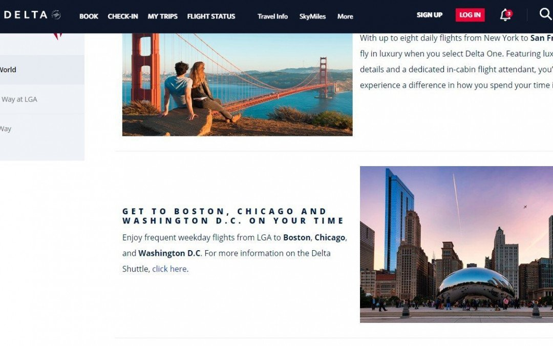 MY IMAGE USED ON DELTA AIRLINES WEBSITE
