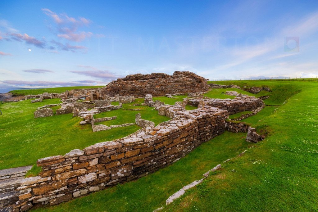 Europe, Scotland, Orkney Islands, Broch of Gurness Iron Age Settlement