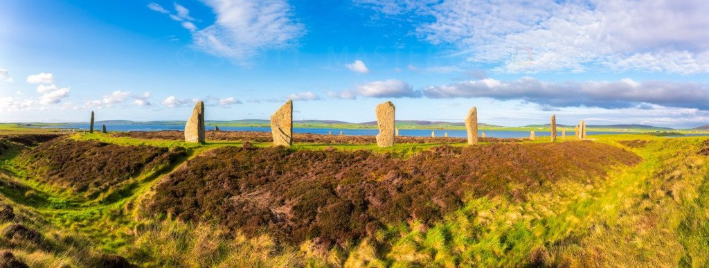 Scotland, Orkney Islands, Mainland, Ring of Brodgar, Neolithic Henge and Stone Circle