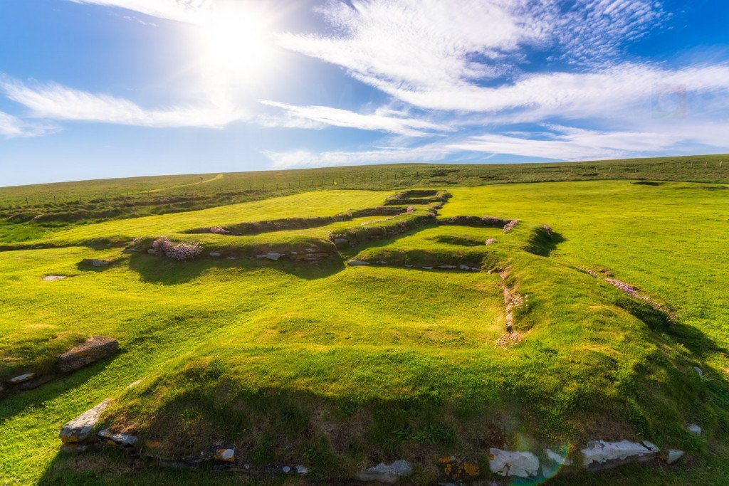 Europe, Scotland, Orkney Islands, Brough of Birsay Viking (Norsemen) Settlement