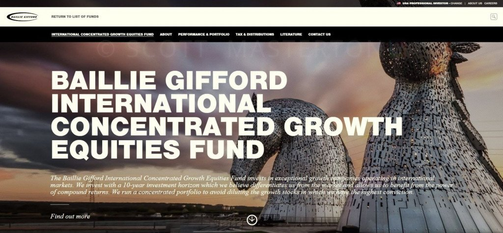 Image use on Balllie Gifford Website