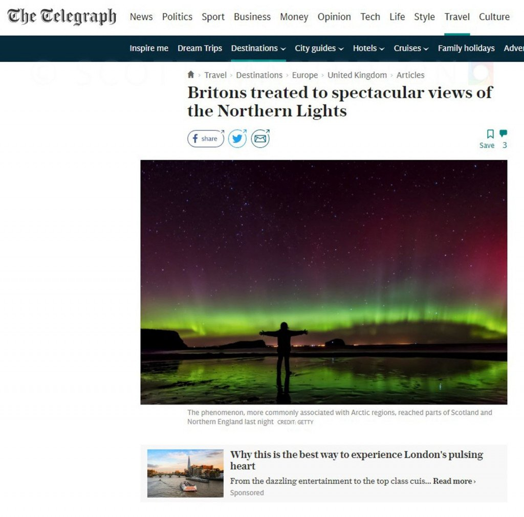 Image use on 'The Telegraph' Website