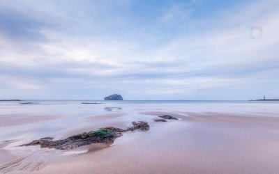 The Beach – Seacliff Beach and Bass Rock, East Lothian, Scotland.